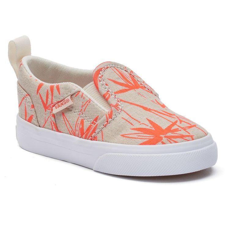 Vans Asher Animal Skate Shoes - Toddler Girls, Size: 10 T, Natural