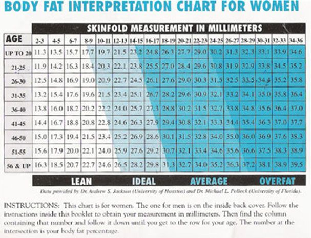 body fat percentage measure