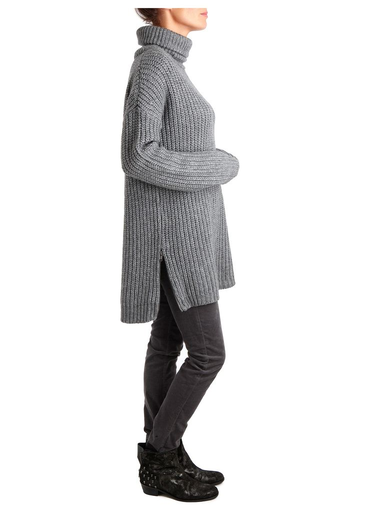 SWEATER NORTH LONG WNA, carbon, Zadig & Voltaire