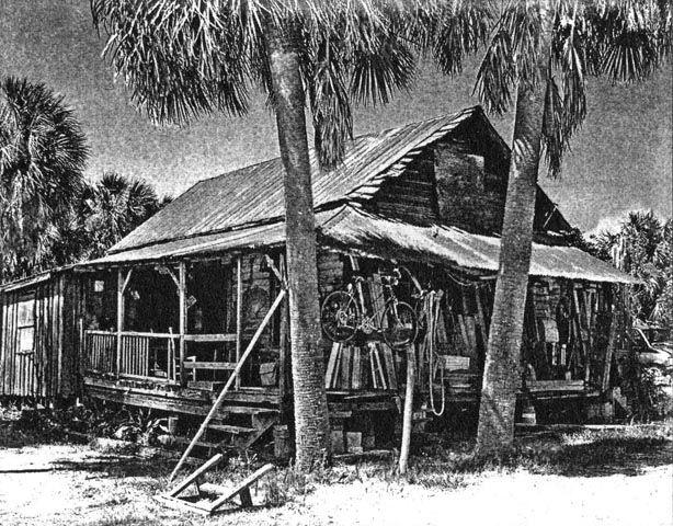 Old Florida cracker cottage image