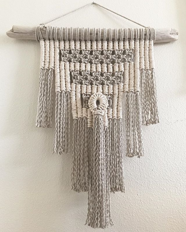 Another one off the rack and on the wall! She heads to her new home in Long Beach soon. ✨ #macrame #modernmacrame #driftwood #bohemian #bohochic #bohostyle #decor #design #wallhanging #wallart #walldecor #oakland #alameda #sf #ca #sanfrancisco #sfart #sfartist #oaklandart #tassel #tapestry