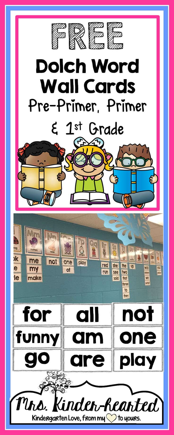 Free Word Wall Cards from my Facebook Page! Head over there, click on the link below the picture and download from my TpT store!