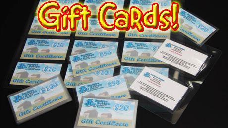 Joe-Lynn Design Gift Cards! You can drop in and get one of our Gift Cards or buy at our website. We will mail the same day!  They come in $10, $20, $50 and $100.  The gift that lasts FOREVER! (Well, as far as us or our great grand kids will ever know) ;)