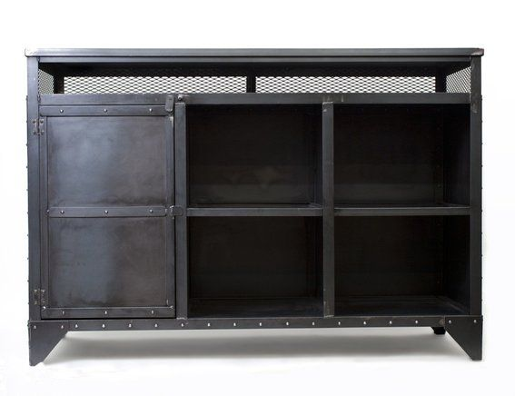Custom Made Industrial Media Cabinet, Hostess Stand, Kitchen Island