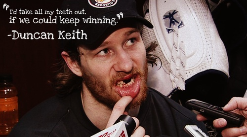 6 teeth lost and out for only 4 minutes.  Amazing.  Was he playing with his mouthguard at the time like Kane?