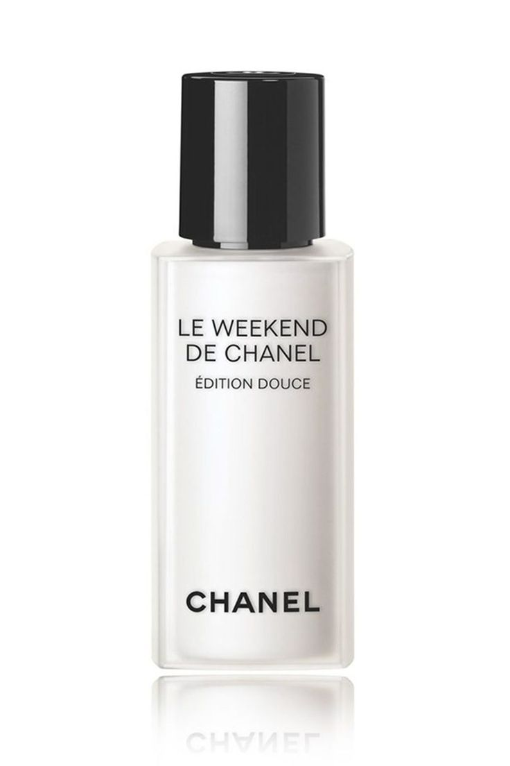 """Le Weekend De Chanel Édition Douce calls upon skin-renewing glycolic acid to hit refresh on your complexion once the week is up. Apply morning and night one day of the week (Sunday it is, then) and say hello to smoother skin come Monday morning.  Chanel Le Weekend De Chanel Édition Douce, £72. Available at [link url=""""https://www.chanel.com/en_GB/fragrance-beauty/home.html""""][b]Chanel.com[/b][/link]."""