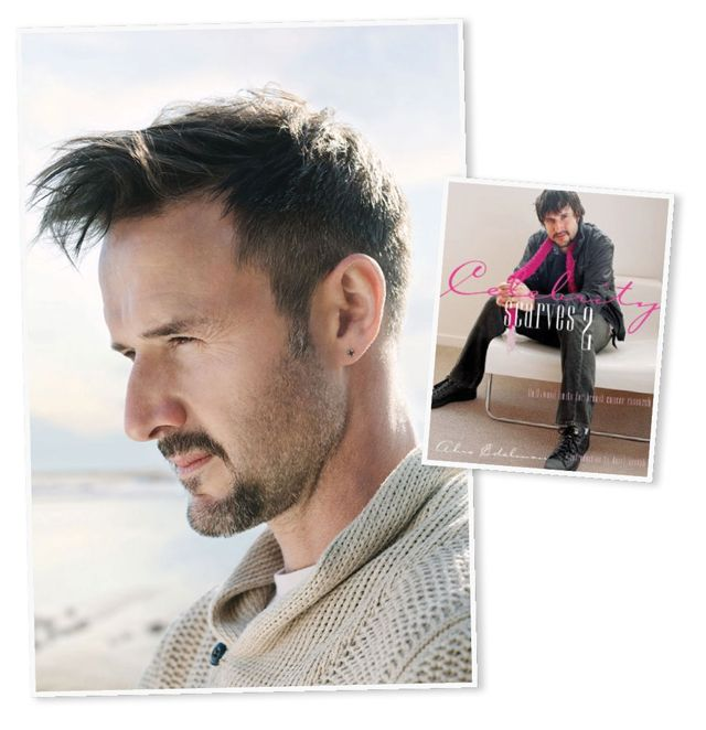 Sexy Men Who Knit  Did you know David Arquette is an avid knitter? So much so, he graced the cover of Celebrity Scarves 2. And here I was blown away by literary force that was Celebrity Scarves 1.     Odd Fact About David Arquette: In addition to his acting chops, he is a WCW World Heavyweight Champion. Yes, a wrestler who knits. Who knew?