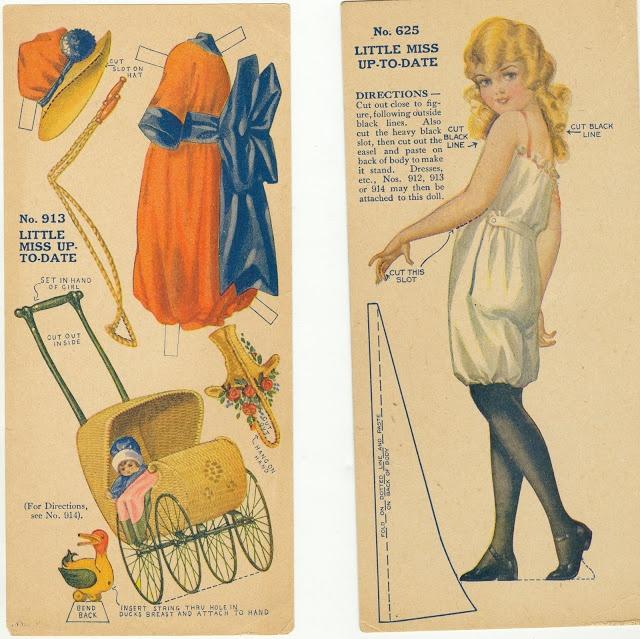 Image result for vintage paper doll box 1920's
