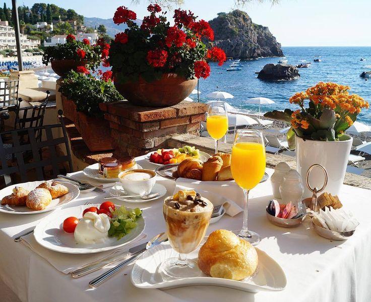 Завтрак у моря красивые картинки