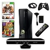 XBOX 360 Slim 4GB Kinect 2 Game Holiday Bundle with Madden 12, Remote, HDMI Cable, and More