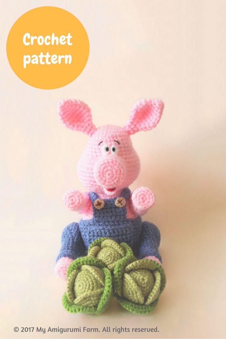 Crochet pig amigurumi pattern