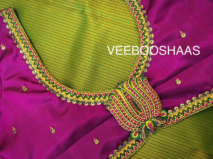 #veebooshaas #bridalblousedesigns For appointments and enquiries call us on +91-99441-33022 and mail us on veebooshaas@gmail.com