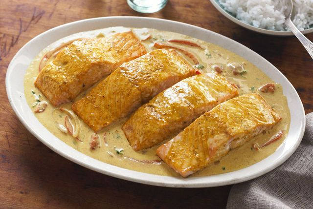 The triple zing of lime, lively spices and a creamy coconut sauce turn salmon into your ticket to a delectable taste tour. Believe us, it's a trip worth taking.