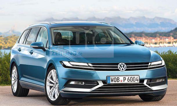 VW Passat Variant (2021) - So könnte der VW Passat Variant (B9) aussehen, wenn er 2021 seinen Marktstart feiert. Der große Kombi aus Wolfsburg ...