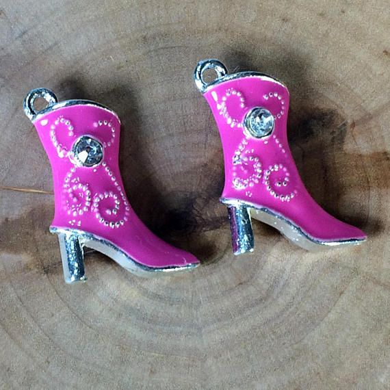 Enamel Boot Charms Cowboy Boot Charms 3D Boot Charms
