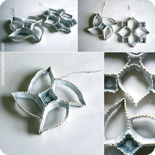 Egg Carton Ornaments