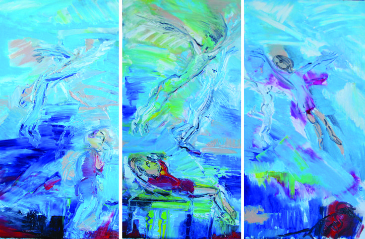 Triptych,  desire to fly