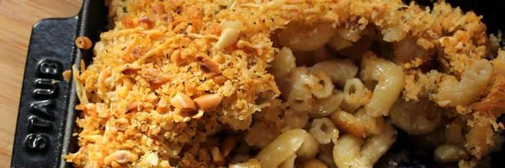 Macaroni and Blue Cheese with caramalized onions!  http://www.gilttaste.com/stories/2500-a-recipe-for-macaroni-and-blue-cheese-with-caramelized-onions