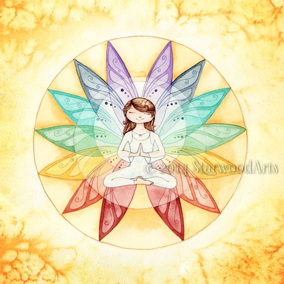 Tattoo with chakras and fairies ... A little different Faery though