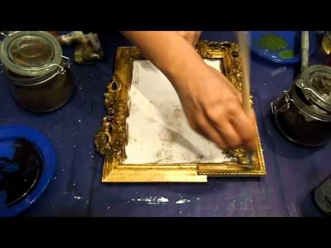 Come trasformare una cornice argentata in dorata con argento e mecca (Fai da Te) - Arte per Te - - YouTube
