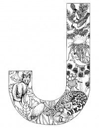 Alphabet Animal Coloring Pages J
