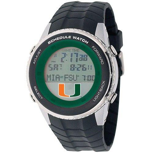 University of Miami Hurricanes Mens Schedule Wrist Watch