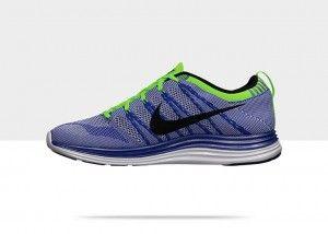 Chaussures Nike Flyknit Lunar 1+ mode courir Homme Bleu Royal / Volt / Noir  /