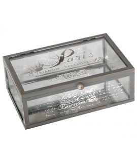 Szklane pudełko dekoracyjne Precieuse Vintage