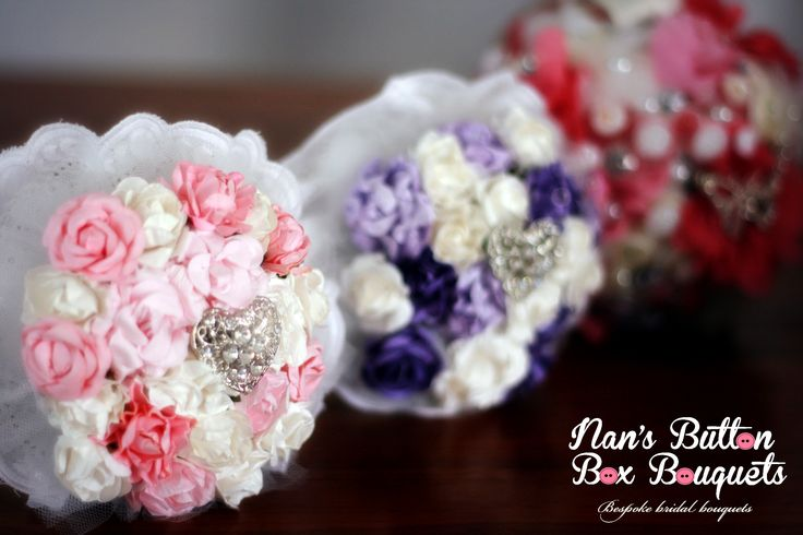 Gorgeous trio of flower girl paper flower bouquets. Smaller size and lightweight - perfect for little hands!