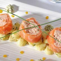 Ma recette du jour : Saumon fumé farci au crabe sur Recettes.net