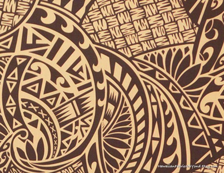 Fabric: Tribal Native Hawaiian Print, Polynesian Tattoo, Tapa, Lavalava Fabric. Check it out at HawaiianFabricNBYond.Etsy.com