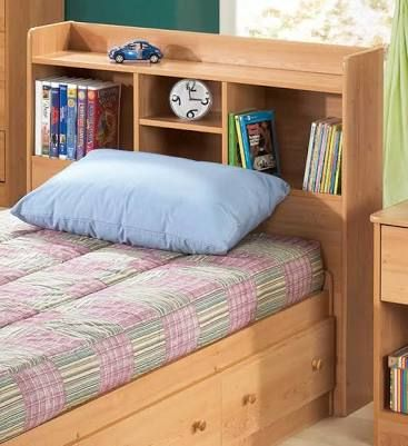 Image result for kids bed heads with storage