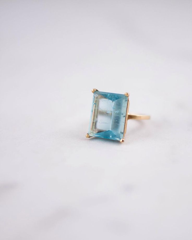 """Aquamarine Ring  """"People will stare. Make it worth their while"""" - Harry Winston"""