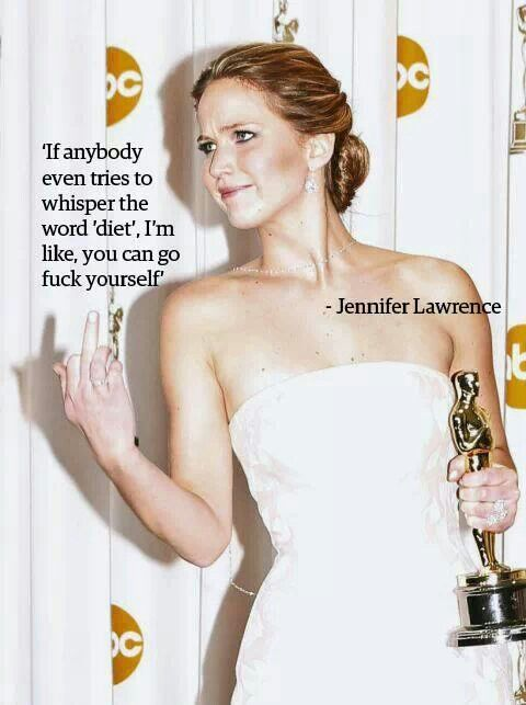 Jennifer Lawrence is such a babe. Why are we supporting an industry that calls *this* girl fat?