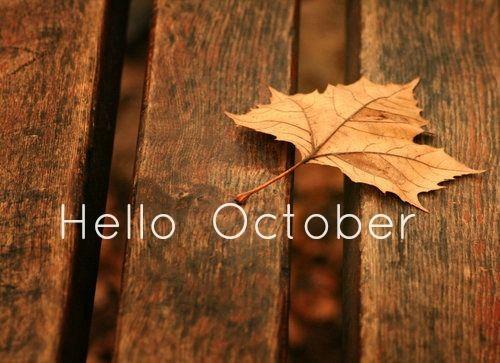 Hello October Desktop Wallpaper Pinterest