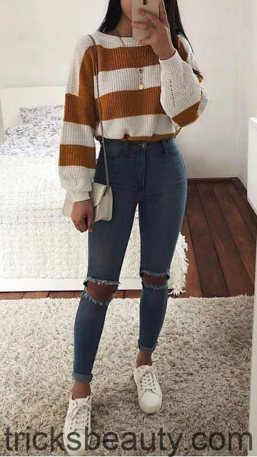 Herbst-Winter-Outfits Modetrends – nur ein Mädchen