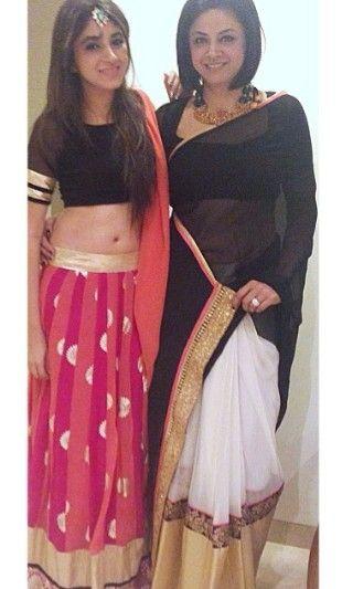 Black & Pink Sangeet Lehenga Jazzy blouse or Dupatta