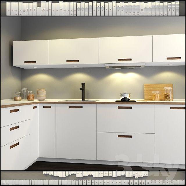 3d models: Kitchen - Kitchen IKEA Method-Märsta (Marsta)