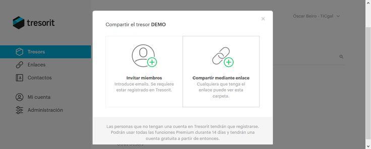 Nueva funcionalidad: Como compartir carpetas con Tresorit sin instalar el cliente.