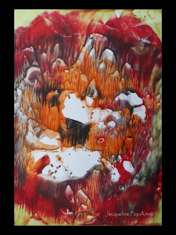 Encaustic, Little Indian Summer by JacquelinePopArts