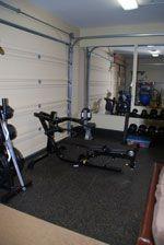 rubber garage flooring in garage gym