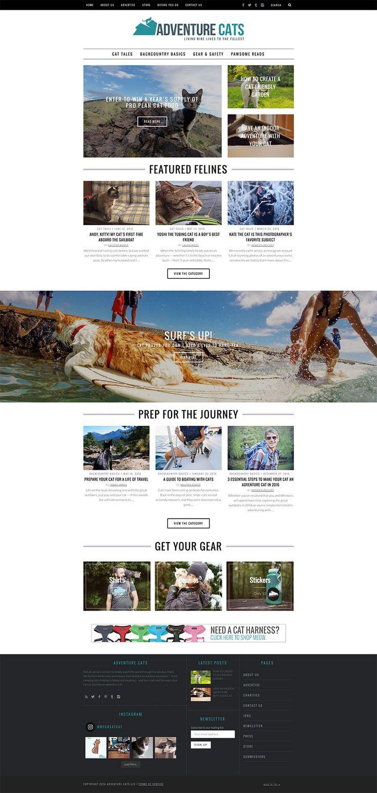 Adventure Cats website