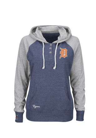 Majestic Detroit Tigers Womens Navy Blue Starting desire Hoodie
