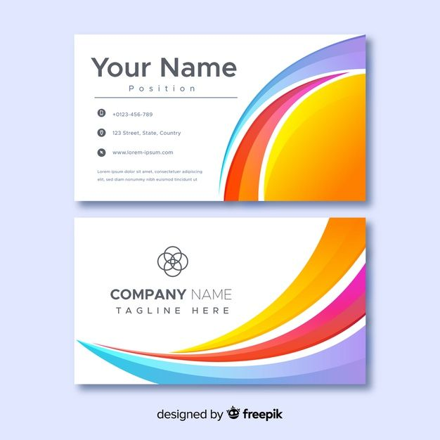 Download Abstract Business Company Name Card Template For Free Business Company Names Free Business Card Design Download Business Card