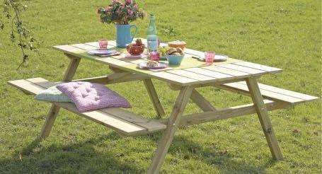 Zelf een picknicktafel maken? Een picknicktafel is een ideaal tuinmeubel, zeker voor kinderen. Volg dit stappenplan van GAMMA om uw eigen tafel te bouwen.