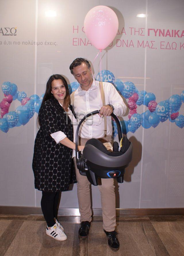 Ελιάνα Χρυσικοπούλου - Νίκος Φαράκλας: Επιστροφή στο σπίτι με τη νεογέννητη κόρη τους [pics]