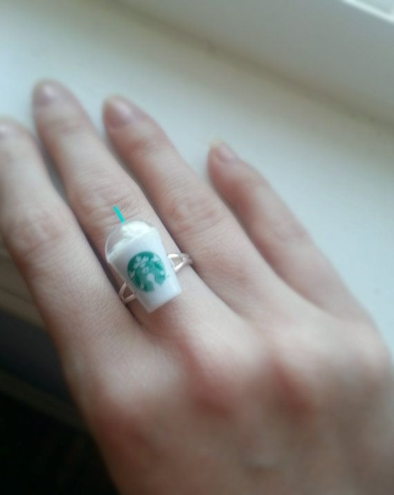 Starbucks frappuccino cup ring miniature by pinkdiamonddesign