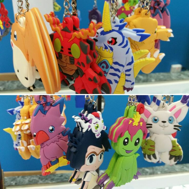 Mojoverse has a large collection of keychains, especially from Digimon Adventure!