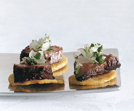 Jerk Beef on Plantain Chips