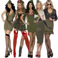Clearance Womens Miliatary Army Soldier Fancy Dress Party Costume Outfit UK